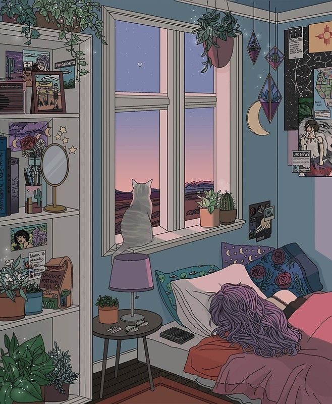 Cute Anime Bedroom Background Morning